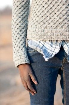 handknit oatmeal sweater + comfy casual