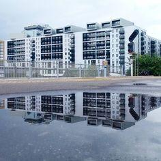 Thurston Point #lewisham #acorn #homes #construction #development #architecture #londonarchitecture #housing #reflections #puddles #mirror