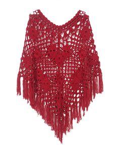 Crochet Cutout Scarf