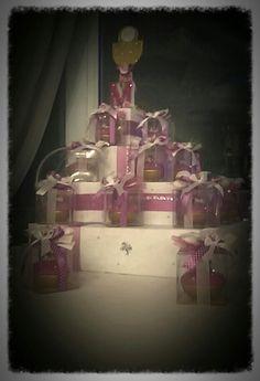 Cesto torta + bomboniere cresima