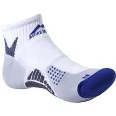 Adidas More Mile socks provide comfort with a padded sole.  Made from breathable material.