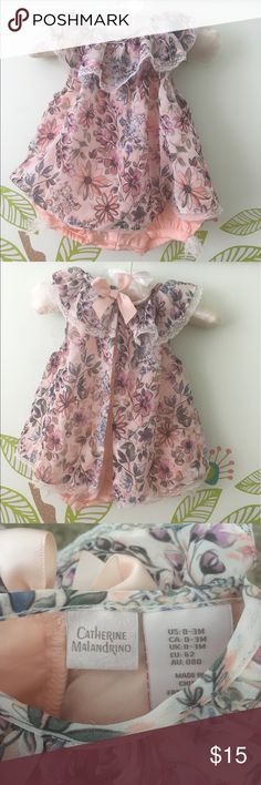 NWOT CATHERINE MALANDRINO GIRL DRESS Body 100% cotton /overlay -100%polyester . Baby's grew to fast so we were unable to wear it ! Open for offers :) Catherine Malandrino Dresses