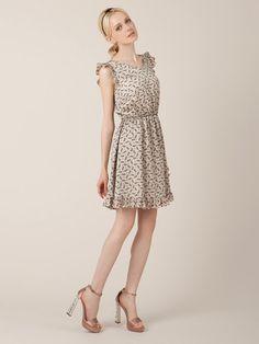 PAUL  JOE SISTER - バタフライプリントフリル ドレス