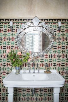 The Bohemian Bathroom: Textile Walls   10 Ways to Get the Look