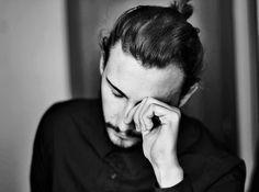 Alessandro Mitola Black shirt hair beard men