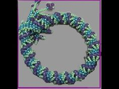 """Kelly from Off the Beaded Path, in Forest City, North Carolina shows how to make a beautiful Dutch Spiral bracelet from Carol Cyphers book, """"Mastering Beadwo. Seed Bead Jewelry, Seed Beads, Beaded Jewelry, Beading Techniques, Beading Tutorials, Beading Ideas, Jewelry Patterns, Bracelet Patterns, Beaded Bracelets Tutorial"""
