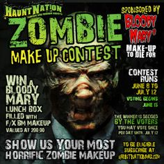 Haunt Nations Bloody Mary Zombie Make Up Contest.