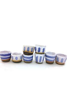 Shino Takeda - Stripe Sake Cup