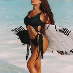 In-X Sexy Leopard one piece swimsuit One shoulder bikini 2019 High cut swimwear women monokini Padded bathing suit New bodysuit - How To Be Trendy High Cut Bikini, Push Up Bikini, Bikini Beach, Thong Bikini, One Piece Swimwear, One Piece Swimsuit, Bandeau Swimsuit, Bikini Swimwear, Leopard Print Bikini