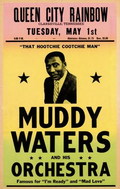 Vintage Muddy Waters Rock & Roll Music Concert Advertising Advertisement Poster Re-Print Wall Decor Muddy Waters, Jazz Blues, Blues Music, 60s Music, Blues Rock, Rock N Roll Music, Rock And Roll, Soul Music, Music Is Life