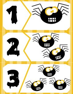 Spider Count Puzzles - Activities For Toddlers With Autism Numbers Preschool, Fall Preschool, Preschool Math, Math Activities, Toddler Activities, Halloween Math, Theme Halloween, Halloween Activities, Halloween Crafts
