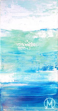 abstract art ocean colors underwater blue painting by Melody Owens
