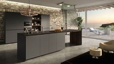 Contemporary kitchen / oak / melamine / glass FORMA MENTIS VALCUCINE
