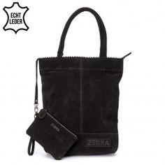 Deze ZebraTrends Natural Bag Kartel Echt Suede Zwart vind je op www.liefzebraatje.nl