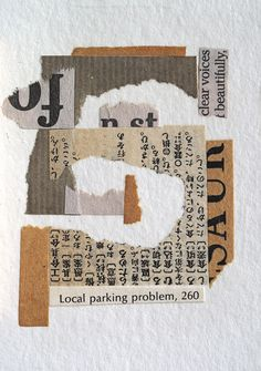 Local Parking Problem | Flickr - Photo Sharing! Paper Collage Art, Collage Art Mixed Media, Paper Art, Collage Drawing, Collage Design, Illustration Art, Illustrations, Scrapbook Journal, Artist Trading Cards