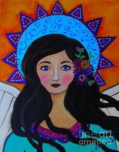 Angel painting  by Pristine Cartera Turkus