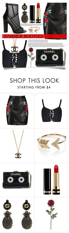 """Summer Booties"" by mistressofdarkness on Polyvore featuring Boohoo, Steve Madden, EF Collection and Gucci"
