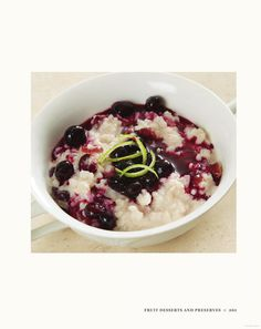 Jacques Pépin Heart & Soul in the Kitchen: Rice Pudding with Dried Cherries and Blueberry Sauce