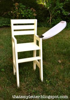 Chair Design Ideas Woodworking is a multifaceted craft that can result in many beautiful and useful pieces. If you are looking to learn about woodworking, then you have came to the right place. Easy Woodworking Projects, Woodworking Furniture, Wood Projects, Woodworking Plans, Furniture Plans, Ikea Chair, Diy Chair, Baby Doll Furniture, Doll High Chair