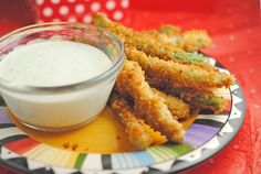 Fried Green Beans with Wasabi Ranch from @JuanitasCocina