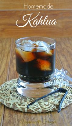 Homemade Kahlua has a perfect balance of sweetness that is shared with coffee and rum for the best flavor. Doesn't it sound like a good idea already? Aged for 2 to 3 weeks. Kaluha Recipes, Vegan Recipes, Cooking Recipes, Homemade Alcohol, Homemade Liquor, Homemade Kahlua Recipe With Rum, Homemade Liqueur Recipes, Homemade Food, Yummy Drinks