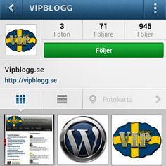 Nu finns Vipblogg.se på Instagram. Gå in och följ och bli uppdaterad om vad som händer @vipblogg