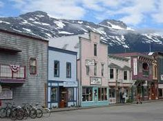 Our visit to Skagway, Alaska, was much like our visit to Juneau. The weather turned out beautifully, so we got some gorgeous photos of the landscape around town and the adorable pastel-painted village. Places To See, Places Ive Been, Skagway Alaska, Daydream, Street View, Scribe, Landscape, Blessed, Wanderlust