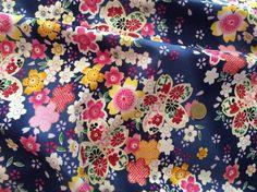 Stoff Blumen - Baumwollstoffe mit japanisch muster - ein Designerstück von Libertyme bei DaWanda