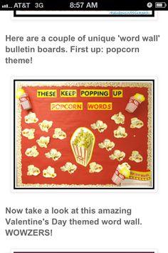 Popcorn Cute Boarders, Popcorn Theme, Unique Words