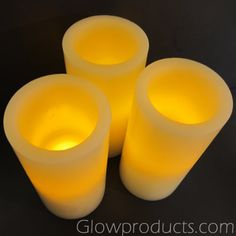 6 Inch Deep Glow LED Pillar Candles have a deeper LED Light Unit creating more of a glow effect! http://glowproducts.com/products/HDFLI6A