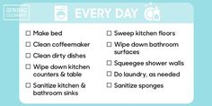 How often you should clean everything. Yep, we said EVERYTHING. Via Good Housekeeping