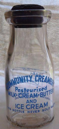 Rare, Clear, Antique Half Pint Glass Milk Bottle from Montana Community Creamery Old Milk Bottles, Half Pint, Pint Glass, Montana, Ice Cream, Community, Antiques, Ebay, No Churn Ice Cream