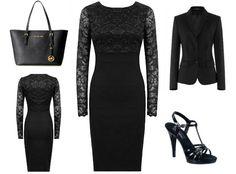 Schwarzes Etuikleid mit Jacke + Outfit Tipps WoW I Love it http://www.kleider-deal.de/schwarz-etuikleid-mit-jacke/ #Etuikleid #Jacke #Outfit #Kleid #Kleider #Fashion