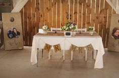 Sweetheart table for just the bride and groom:)