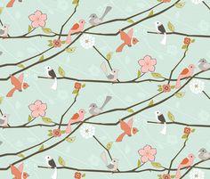 Wake Up Call fabric by ttoz on Spoonflower - custom fabric