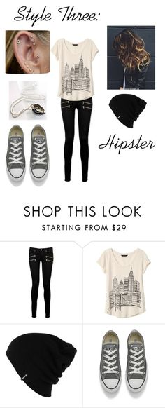 """""""Style Three: Hipster"""" by ktsongwriterrose on Polyvore featuring Paige Denim, Banana Republic, Patagonia and Converse"""
