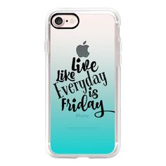 LIVE LIKE EVERYDAY IS FRIDAY - AQUA Turquoise Blue Ombre Abstract... ($40) ❤ liked on Polyvore featuring accessories, tech accessories, iphone case, iphone cover case, slim iphone case, iphone cases, transparent iphone case and apple iphone case