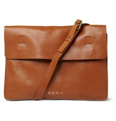 105f037497e73 Men s Designer Bags. Brown Leather Messenger ...