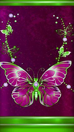 By Artist Unknown. Love Wallpaper Backgrounds, Heart Wallpaper, Butterfly Wallpaper, Cellphone Wallpaper, Pretty Wallpapers, Iphone Wallpaper, Galaxy Wallpaper, Beautiful Flower Drawings, Beautiful Butterflies
