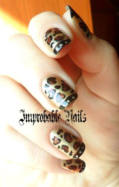 "Improbable Nails: ""Golden Leopard"" Nails + make up in collaborazione con Alice in Makeupland"