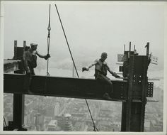 """""""Connecting the beams."""" Lewis Wickes Hine, 1874-1940, PhotographerSource: Photographs of the Empire State Building under construction. L. W. Hine. NYPL digital col."""