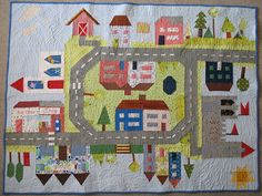 All Around the Town Quilt by gershamabob, via Flickr http://gershamabob.blogspot.com/2010/10/finished-quilt.html