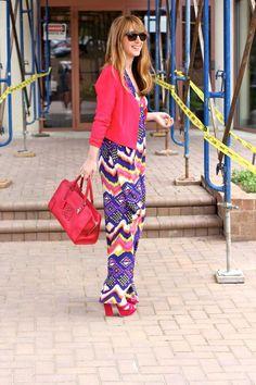 It's Friday!!! Maxi Dress. Neon. Loewe bag!