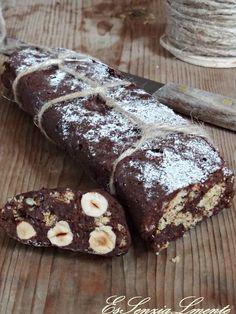 Salame di cioccolato tanto gusto in un dolce senza lattosio, uova e burro ;-)