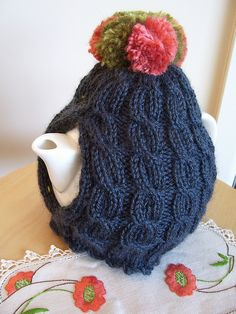 cable cosy by kgirlknits, via Flickr