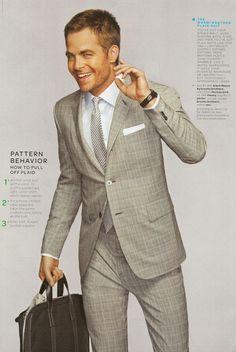 I'd wear a plaid suit