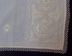 Hardanger Embroidery, White Embroidery, Filet Crochet Charts, Wedding Glasses, Bargello, Handmade Dresses, Cutwork, Handicraft, Needlepoint