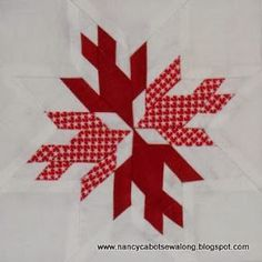 Moore About Nancy: Doves in the Window quilt block