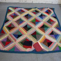 Vintage  Knitted Blanket -