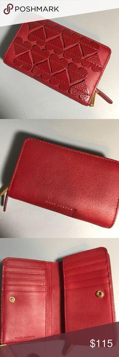 Marc Jacobs Heart Appliqué Continental Wallet BEAUTIFUL unique wallet ❤️ Marc Jacobs Bags Wallets